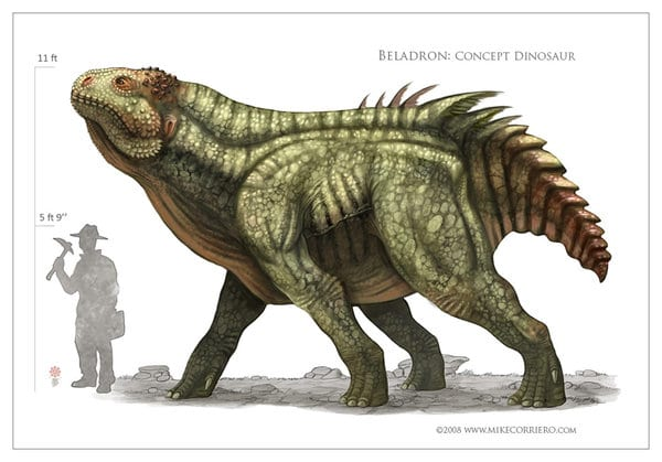 Cool Dinosaur Art:  Beladron Dinosaur by MIKECORRIERO