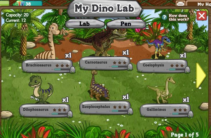 Farmville Dinosaurs