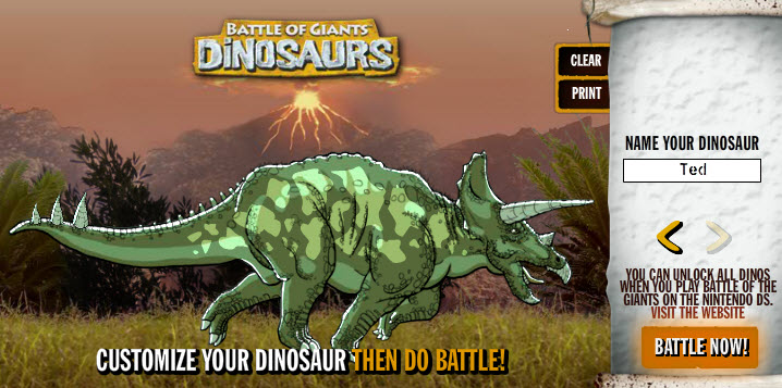 Free Dinosaur Games: Battle of Giants: Dinosaurs