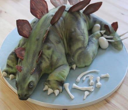 Dinosaur Cake Idea #10:  Stegosaurus Sculpted Cake