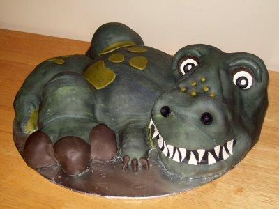 Dinosaur Cake Idea #5: Tyrannosaurus Rex Sculpture Cake