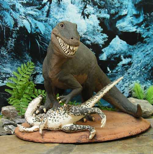 Dinosaur Cake Idea #8: Carnivore Dinner Time Cake