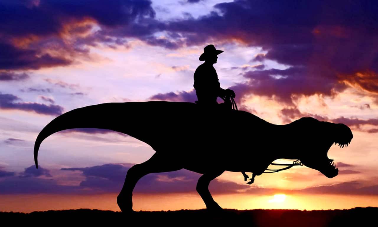 Dinosaur cowboy