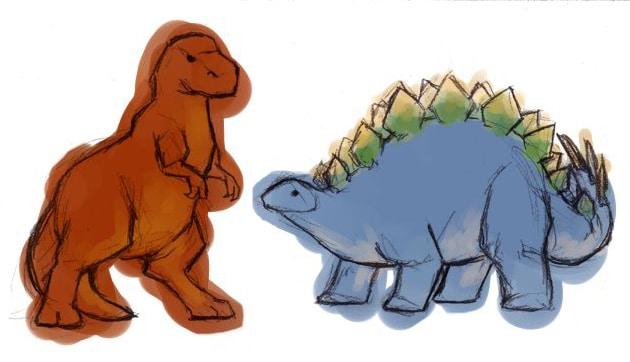 Dinosaur Art: Firefly Wash's Dinosaurs by Bluestraggler