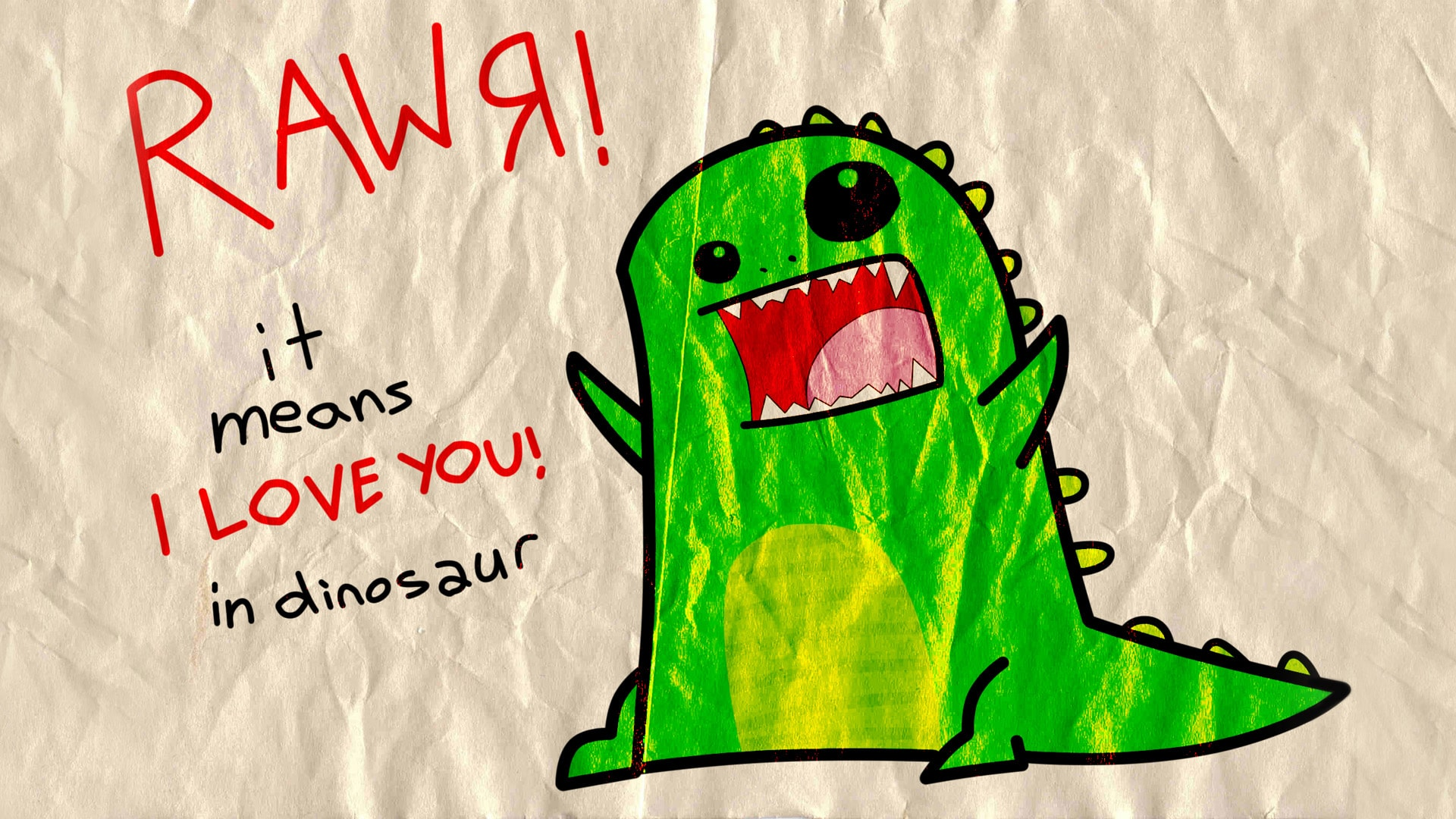 Rawr Dinosaur Wallpaper