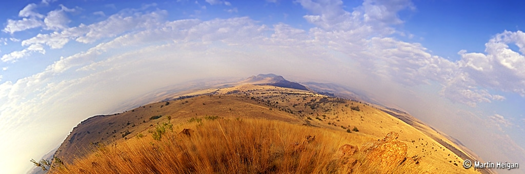 South African Fossil Exhibit: Cradle of Humankind Panorama