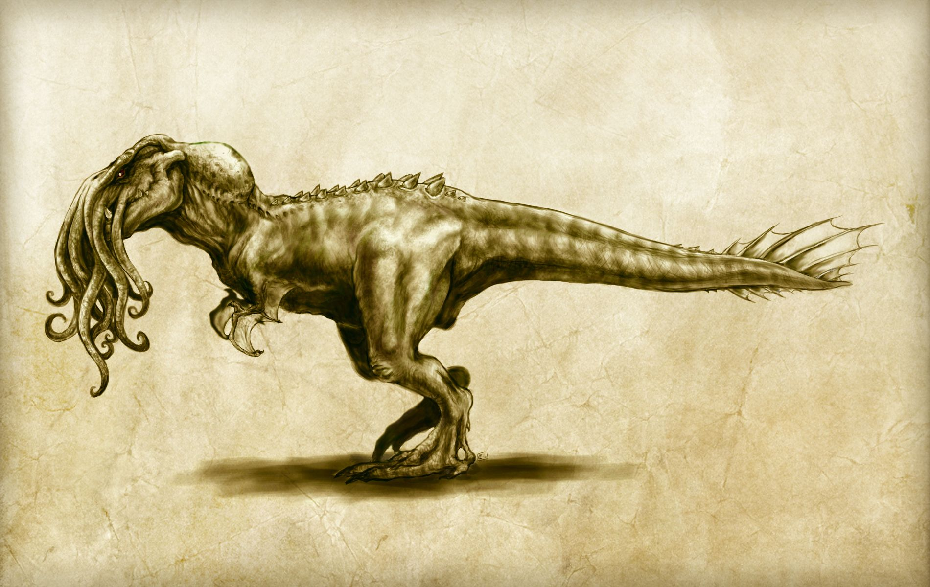 Cthulhu dinosaur wallpaper