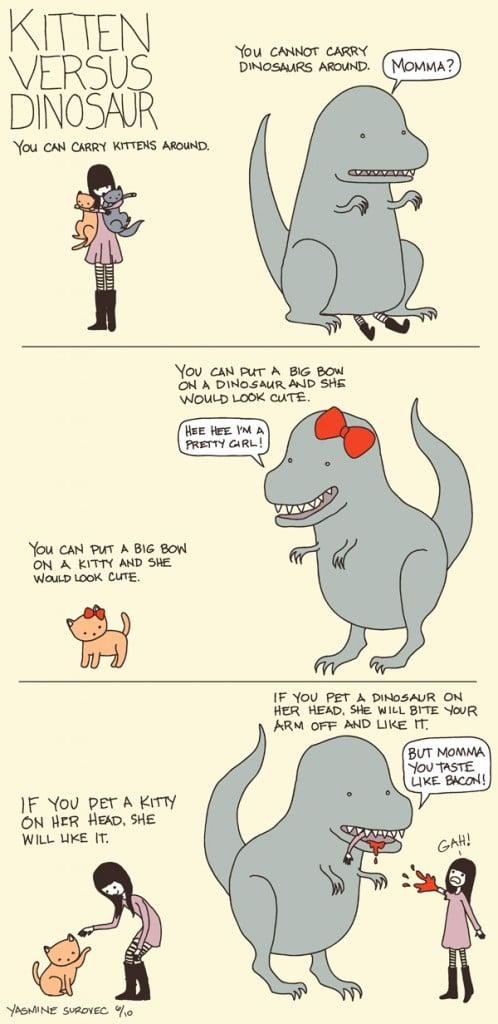 Kittens versus dinosaurs