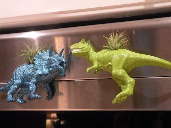 Dinosaur planter magnets