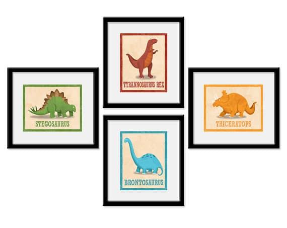 ETSY Dinosaur Finds: Dinosaur Wall Art