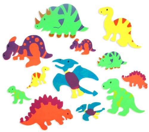 Foam dinosaur shapes