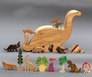 Wooden Dinosaur Toys