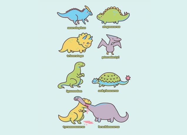Threadless Dinosaur T-Shirts: Know Your Dinosaurs