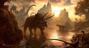 Cool Dinosaur Art: Cretaceous Sunset by *kerembeyit