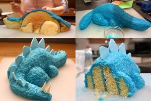Dinosaur Cake Idea #1: Stegosaurus Cake