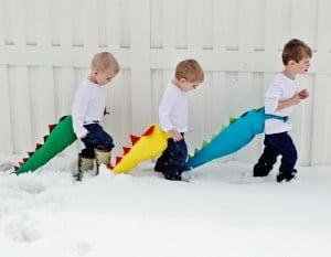 Make a dinosaur tail instructions