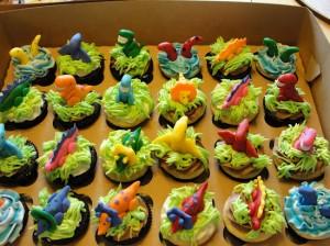 Dinosaur Cupcakes: Fondant Dinosaurs