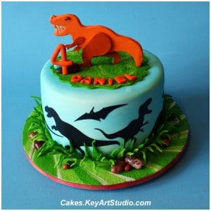 Dinosaur Cakes by Key Art Studio
